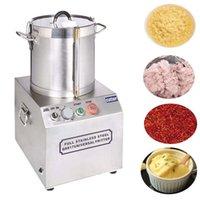 Triturador de alimentos de aço inoxidável comercial 17L Grande Crusher Gelo Alho Gengibre Crusher Fresco Chili Pó Fazendo Máquina Batata Pasta Maker