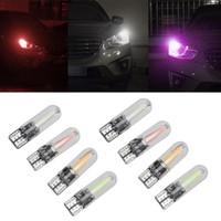 Car T10 COB W5W Car Interior LED Wedge 192 168 2825 W5W 194 259 Door Instrument Side Bulb License Plate Light Glass Shell 12V