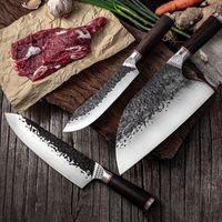 Cuchillo de chef de acero de alto carbono CLAD Forged Bonejado de acero rebanado Cachera Cuchillos de cocina Cuchilla de carne Cuchillo de sacrificio Cuchillo al por mayor