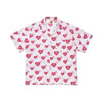 Мужские футболки дизайнер моды HUMAN MADE 20SS Карман короткий рукав Полный Of Love Hawaii Сыпучие рубашка Повседневный High Street S-XL