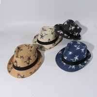 Estilo de lujo lindo de moda Primavera ala Protección de Jóvenes Hombres Mujeres Kids Party Sun vaquero sombrero de paja de la novedad