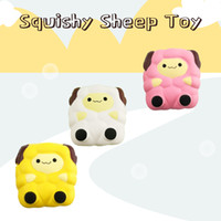 Cute Jumbo White Yellow Pink Squishy Sheep Cream Scented Slo...