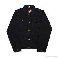 Autumn Winter Men Women Wash Water Black Blue Denim Jacket L...