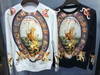 Мужские дизайнера логотипа Толстовка Мужская Новый стиль Hoodie Париж бренд одежды моды вскользь с капюшоном мужские осенние фуфайки 52378