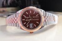 12 stile 41 millimetri orologi da uomo in oro rosa Everose Giubileo del Mens del braccialetto BP fabbrica di cioccolato Brown 126.331 Wimbledon cristallo luminosa Orologio vetro