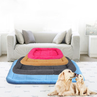 S-XL Pet Dog Bed Mat Теплый руно Одеяло Дом Nest осень-зима диван Pet Подушка Обложка Полотенце Питомник Матрас для кота Лежак