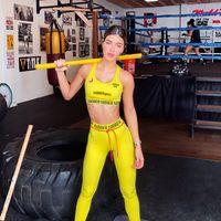 2020 Nuovo NIBBER Sport Tuta 4 colori della caramella di Yoga Outfits Nizza Stampato Slim Esecuzione Kit Gym Suit M822