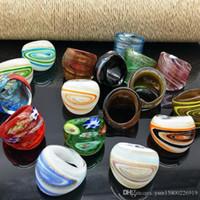 17 PCS zufällig mit farbigen Glasur vermischt Ringe Murano heißen Goldfolienfarbring mehr 17-19 mm