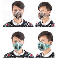 Camouflage PM2.5 Maschera per la maschera viso Respiratore antipolvere Anti Polvere A Muffabile Lavabile Riutilizzabile Collo Gancio Camo Maschere per viso con valvola all'ingrosso