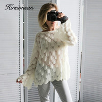 Hirsionsan Elegant Sweater Women 2019 Casual Fashion Loose W...