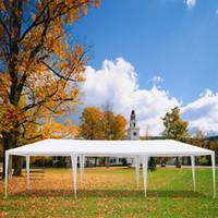 Isı kanıtı tente açık düğün tonları su geçirmez çadır aile toplama piknik kamp gölge çadır pergola 3 x 9 m sekiz tarafı iki kapı
