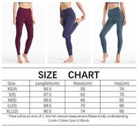 LU 32 mulheres cor sólida Nu cintura alta calças apertadas yoga aptidão Elastic Energia Ginásio apertado Wear Workout Leggings Sports Gym Legging 3asbebc #