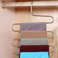 Hose Aufhänger Multifunktionshose Closet Gürtelhalter Rack-S-Typ faltbare Garderobe hängend Taschen Socken Organizer