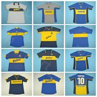 1981 1995 1996 1997 1997 Futebol Boca Juniors Juniors Retro Jersey Roman Maradona Palermo Gago Palacio Cartozo Riquelme Pavon Futebol Camisa Kits