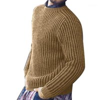 Outwear Knitted Sweaters 20AW Men Designer Sweater Casual Long Sleeve Solid Color Homme Pullover Tops Men O Neck