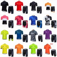 Strava TEAM Breathable Quick Dry Sommermens Radsport Kurzarmtrikot Shorts Sätze Breathable Road Racing Kleidung Ropa Ciclismo F072701