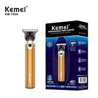 أصيلة kemei km-700b km-700a الحلاق متجر الشعر الكهربائية المقص المهنية آلة الشعر اللحية المتقلب أداة لاسلكية قابلة للشحن