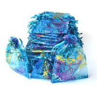 الرباط أكياس الأورجانزا هدية التفاف حقيبة هدية الحقيبة الحقائب الأورجانزا حقيبة الحلوى أكياس حزمة حقيبة مزيج اللون