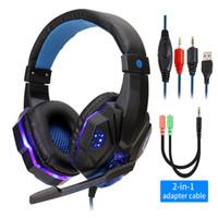 컴퓨터 PS4 조정베이스 스테레오 PC 게이머 이상 귀 유선 헤드셋과 마이크 선물에 대한 전문 Led 빛 게임 헤드폰