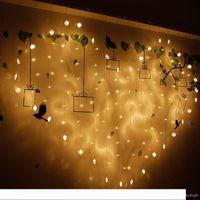 2M * 1.5M الحب شكل LED أضواء سلسلة الستار الزفاف فندق عيد الحب عطلة أدي لوسيس الرئيسية وحديقة الأنوار