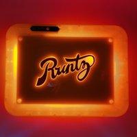 Luci a LED Vassoio di rotolamento 28 * 20,8 * 3.6 cm Ricaricabile illuminato Glow Glow Runtz Plasty Rotolo Vassoio per cartucce Porta vassoio di stoccaggio