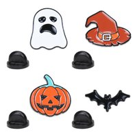 Cartoon Halloween Series Brooch Pumpkin Head Bat Brooch Bag ...