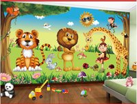 High Quality Custom photo wallpaper 3d mural wall paper Animal park cartoon forest children's room mural background wall papers home decor