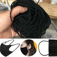 Cord 900M 3MM redonda preta elástico Para DIY Máscara Facial Ear Cord Belt Mouth máscara de borracha corda Roupa Artesanato Acessório