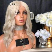 Zesen Wavy Synthetic Hair Spitze Teil Perücke Für Schwarze Frauen Neue Farben Rosa Blondle Hitzebeständige Bobo Frisur Cosplay Perücken