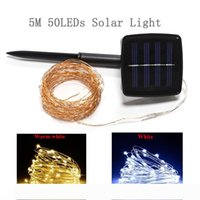 LED Solar Lamp String Lights 5M 16.4FT 50 LED Light IP65 Copper Wire String Fairy 2 Modes Solar Powered Christmas Party Decor
