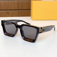 1165 واط مربع الأصلي الرسمي أحدث لون 1165 الأزياء النظارات الشمسية المليونير الإطار مربع أعلى جودة نظارات الزخرفية الرجعية المستمر