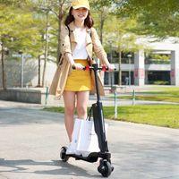 Skateboarding Smart Plegable Black Scooter eléctrico E- con altavoz Bluetooth, puerto de carga USB, control de aplicaciones, LCD, Faro