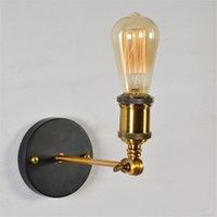 빈티지 LED 벽 조명 110V 220V E27 금속 벽 램프 홈 인테리어 간단한 단일 스윙 벽 램프 레트로 소박한 전등 조명