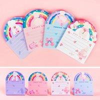 50 Folhas do arco-íris Coelho Memo Pad menina diário Notepad Sticky Note Escola Abastecimento bonito presente de papelaria
