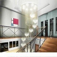 11 Kristal Küre Tavan Işık Armatür 13 GU10 gömme tavan Merdiven ışıkları ile Modern Avize Yağmur Damlası Büyük Kristal Işık Armatür