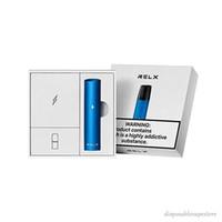 Origina relx Genuine 9 cores com código de segurança Starter Kit 350mAh bateria 2ml pré preenchido cartucho pod clássico de sucção de óleo 200 folhada