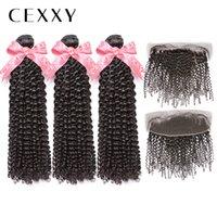 [cexxy] onecut hair kinky مجعد 8-30 بوصة p الهندي ريمي الشعر حزم اللون الطبيعي مع شعر الإنسان نسج حزم