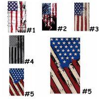 ABD STOK! Moda Amerika bayrağı Sihirli Kafa Yüz Koruyucu Maske Biker en Tüp Bandana Fular Bileklik Beanie Cap Doğa Sporları CPA1140