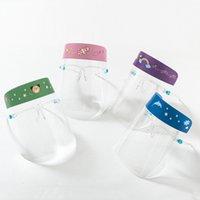 US Warehouse Söt HD Transparent Goggles Barn Skyddande Ansiktsmask Tecknad Djur Barn Full Face Shield Cover För att ha på sig glasögon