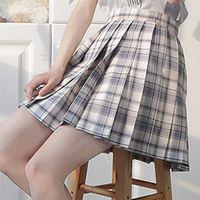 Check Plaid Mini Rock Frauen Cosplay Sommer 2021 Mode Lässig High Wiast Damen Kurze Röcke Einheitliche Röcke