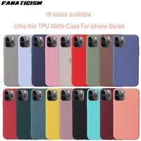Sevimli Mat Katı Şeker Telefon Kılıfları Için iPhone12 12Pro Max Basit Silikon Kılıf Iphone 12Mini Yumuşak Kapak