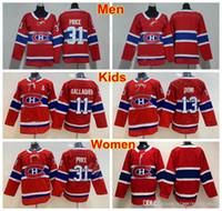 Men Lady Kids Montreal Canadiens 13 Youth Carey Price Price Джерси Человек Женщины 13 Max Domi 11 Брендан Галлахер Хоккей Ледяной Хоккей Чистые Требовые