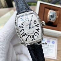 NEW Прибыл Сумасшедшие часы 8880 CH Автоматическая Мужские часы Резные Дело белый циферблат кожаный ремешок высокого качества Mens популярных бизнес-часы