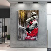 idole grand joueur de basket-ball Affiches Salon Peinture Toile Chambre Décoration murale Art Accueil Deocor (Frame No)