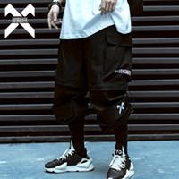 11 de Dark BYBB Hip Hop carga Pant Men removível calças curtas Mens Verão Corredores táticos Calças Sweatpants Streetwear Homens