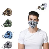 Anti Poeira Moda Máscara Facial lavável Camouflage Cotton Cloth Mascarilla Proteja Boca respirador pode colocar PM2.5 Adult Filter 4 5sm B2