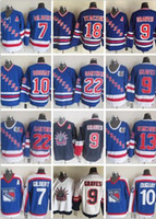 9 Adam Graves 10 Ron Duguay Rangers Jersey Vintage Klassische 11 Mark Morgendeis 13 Sergei Nemchinov Tkaczuk Gartner 7 Gilbert 75. Hockey Jer