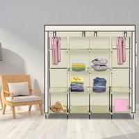 Шкафные хранилища одежды 12 полки Портативная обувь Современный гардероб Легко установить спальню Стеллаж стойки США