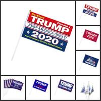 DHL envío de mano de la bandera Trump Mini Elección palo de la bandera Trump Presidente Elección 2020 Keep America gran Moda Decoración Banner fy6081