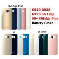 Samsung Galaxy S6 G920 S6EDGE G925 G928 Arka Kapı Pil Konut Ile Sticker Kenar Artı Cam Kapak G920F Cep Telefonu Tamponlar Aksesuarları